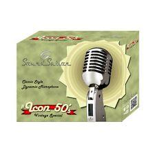 SOUNDSATION #ICON 50's microfono vintage classico switch ON/OFF per canto e voce