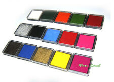 Square Mini Ink Pad 4x4cm Rubber Stamp Ink pad 15 colors can choose