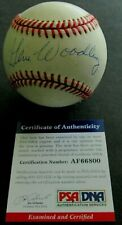 PSA/DNA AUTHENTICATED AUTOGRAPH GENE WOODLING BASEBALL-GREAT SIGNATURE!!!