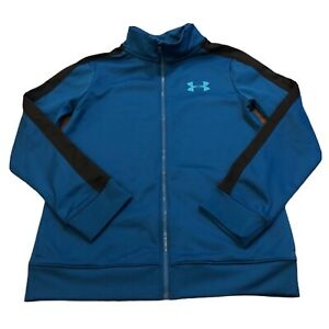 Under Armour Boys Kids Full Zip Tracksuit Top Track Jacket Size YMD