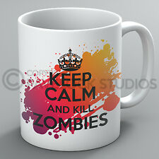 Keep Calm And Kill Zombies Mug Zombie Resident Evil The Walking Dead Undead Gift