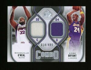 2009-10 Upper Deck UD Combo Kobe Bryant Shaquille O'Neal HOF GU Jersey /499