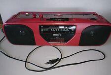 Sony radio Kassettenrecorder CFS-201 roter Radiorecorder portable Vintage defekt