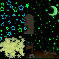 Luminous Wall Stickers Room Wall Moon Star Decal Fluorescent Creative Home Decor