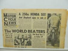 Sept 16 1964 Motorcycle News Newspaper Honda Phil Read Gilera BSA L11437