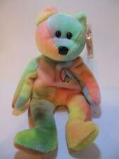 TY Beanie Baby 1996 Peace Bear P.E. Pellets Tye Dye Bright Colors In Box
