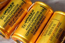Copper Jensen .47uf/630V oil capacitor for 845 211 300B 2A3 45 tube amplifier Q