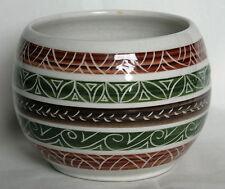 VIntage Sgraffito Bowl or Sugar Bowl - Dragon Pottery, Rhayader Wales