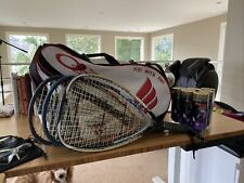 Ektolon Racquetball Bag, 3 Racquets(2 With Covers), 2 Glasses and Balls