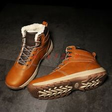 men Round Toe Lace Up Fur Lined Warm Winter Snow Ankle Boot Shoe Climb Fashion