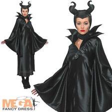 Maleficent Ladies Disney Fancy Dress Villian Womens Halloween Adult Costume New