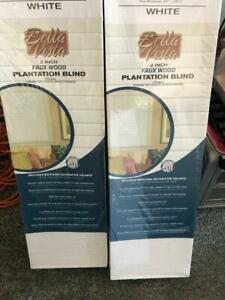 "BRAND NEW 2"" window Blinds 24W X 72L White Plantation style"