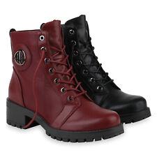 Damen Stiefeletten Schnürstiefeletten Gefütterte Boots 831969 Schuhe