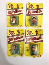 VINTAGE - MATTEL - 1981-Monchhichi BATTER/ FAST BALL/SHORTSTOP AND OUTFIELDER