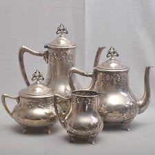 WMF Jugendstil Kernstück, Kaffeekanne, Teekanne, Milch, Zucker, Art Nouveau