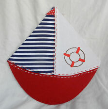 Jolly Sailing Boat Magnetic Memo / Message Board - Wall Hanging
