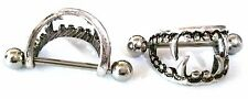 Nipple Shield Rings barbell barbells sold as a pair 14 gauge Love Bite Fang