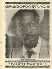 11/12/82Pgn42 Advert: Gregory Isaacs New Album the Cool Ruler 10x7