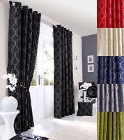 MIDTOWN Lined Eyelet Ring Top Curtains - Choice of Colours & Sizes