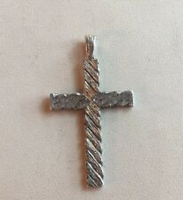 Vintage Silver 'CROSS' Style Pendant/Charm Weight 6.6g Stamped