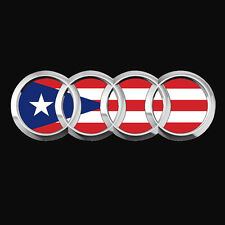 PUERTO RICO CAR DECAL STICKER  AUDI with FLAG  #282