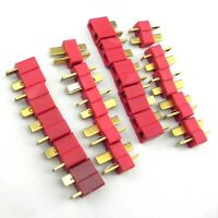 10 Pairs Deans Plug T Style Male / Female Connector For RC LiPo Battery ESC F