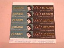 Elvis Presley~Love Me Tender~Blue Christmas~Mega Rare~ Title Strips