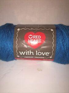 Premium Red Heart With Love Yarn-Blue Hawaii~370yds 7oz~#4 Medium~E400-1803~Nice