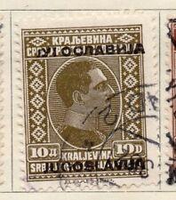 JUGOSLAVIA 1933 Early problema fine utilizzato 10d. Optd 106065