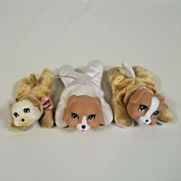 """3 Girl Puppy Surprise Replacement Puppies Tan and White 1 """"Runt"""""""