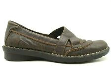 Clarks Bendables Brown Leather Casual Slip On Loafers Shoes Women's 9.5 M