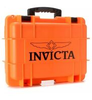 New Invicta 8 Eight Slot Orange Impact Resistant Dive Collector Watch Box Case