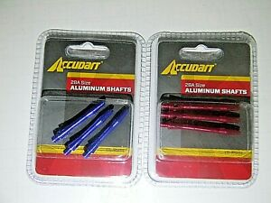 2 packs Accudart 2BA Size Aluminum Shafts Red and Blue 3  in each pk #D5203
