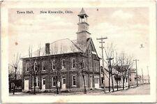 Postcard OH New Knoxville Town Hall Kraemer Art K97