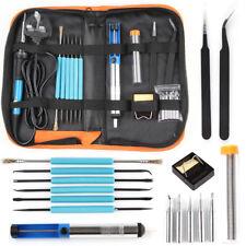 Uk 60W Soldering Iron Kit Electronics Welding Irons Tool Adjustable Temperature