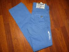 NWT TRUE RELIGION Straight Big T Surf Tonal Thread BLUE Jeans ....Size 27X35