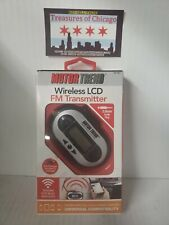 Motor Trend Wireless LCD FM Transmitter- 3.5mm Audio Plug-Car Charger included