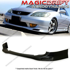 04-05 Honda Civic VIP JDM PDM STYLE Front Bumper Chin Spoiler Lip URETHANE PU