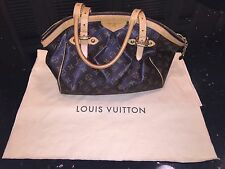 Authentic LV Louis Vuitton Tivoli GM Monogram Handbag Purse Pleated Zipper Large
