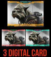CONCEPT ART Week 1 ORANGE/RED/GREEN Topps STAR WARS DIGITAL CARD TRADER Gold