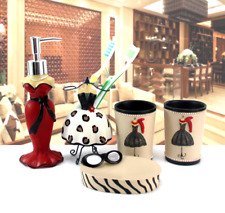 Paris show 5pcs Bath Accessory Set Soap Dispenser Dish Toothbrush Holder Tumbler