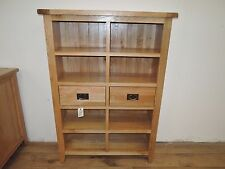 VANCOUVER PETITE RANGE SOLID OAK  BOOKCASE WITH DRAWERS NB011