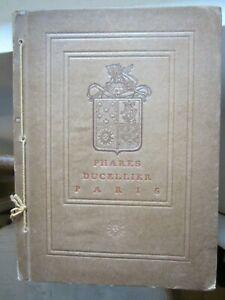 catalogue ancien pour automobiles  PHARES DUCELLIER 1906