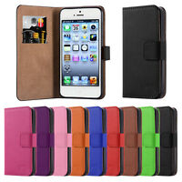 For Apple iPhone 5 5s SE Case Cover Flip Wallet Leather Card-slot Stand Magnetic