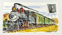 The Great Train Robbery Wild Horse Hand Painted Cachet FDC 2/3/1998 #18/50