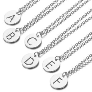 Silver Alphabet Letter Initial Friendship Bridesmaid Gift Chain Ladies Necklace