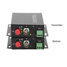1 Channel Video Data Fiber Optical Converter Transmitter Receiver Composite CCTV