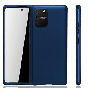 Samsung Galaxy S10 Lite Hülle Case Handy Cover Schutz Tasche Panzerfolie Blau