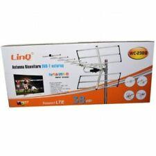 Antenna Tv Uhf Dvb-T Dvb-T2 Digitale Esterno Amplificata 38 Dbi Linq Wc-238b