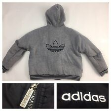 Vintage Adidas Windbreaker Hoodie Reversible Swag Black Nylon Track Jacket XL